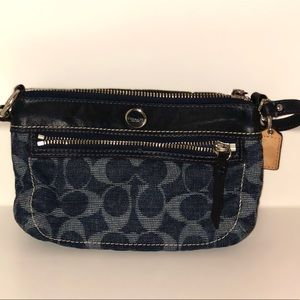 Navy Coach Clutch Wristlet Purse